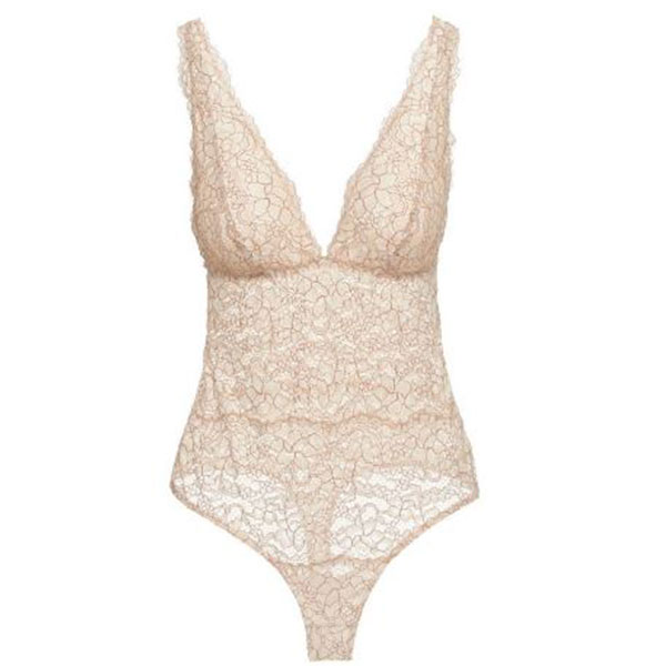 Cosabella Pret-A-Porter Bodysuit front in ivory