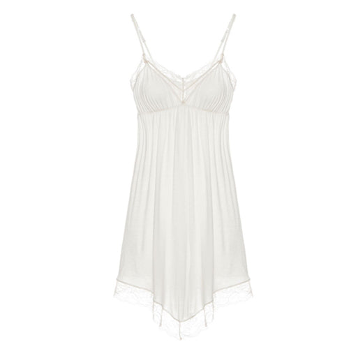 Eberjey Malou Chemise in bone/frosted cream