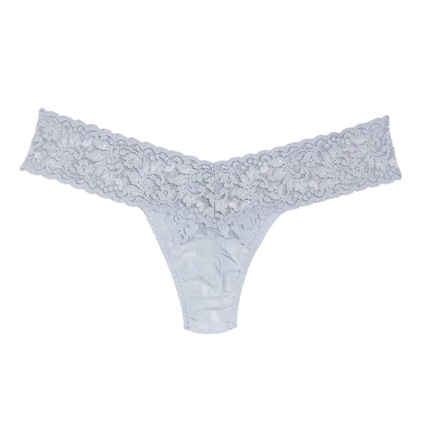 Hanky Panky Low Rise Thong 4911 in shining armour armor grey silver