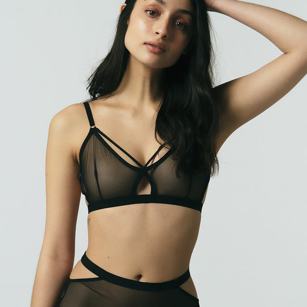 Mary Young Caden Bralette in Black