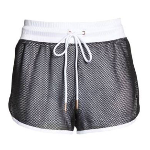 Onzie Mesh 2-In-1 Shorts white black