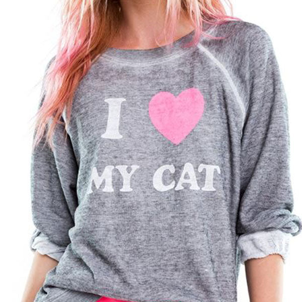 Wildfox Cat Mom Top front