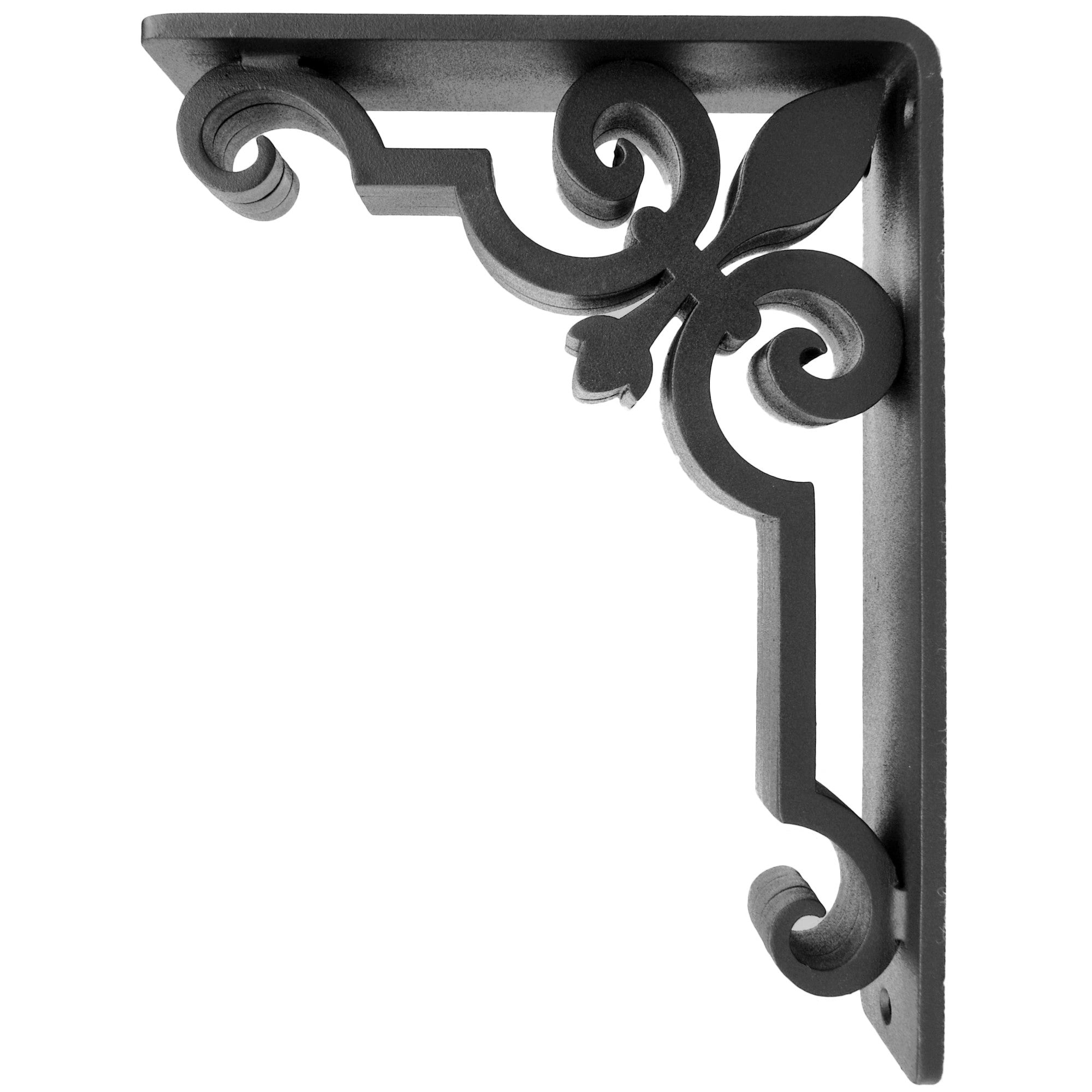 2-inch wide Charlotte Corbel with Black Iron Finish