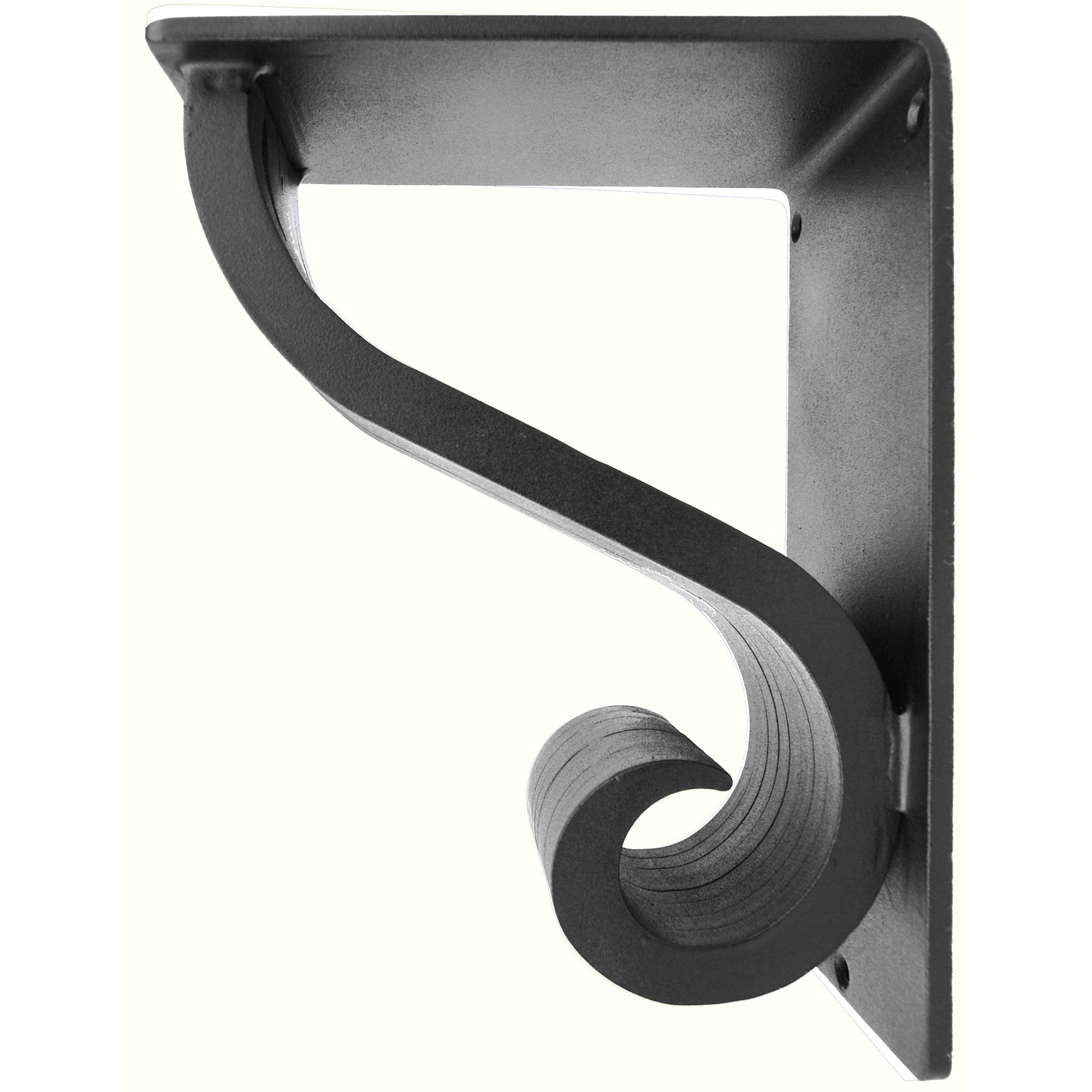 4-inch wide 5.5 x 8 Camden Iron Corbel with black iron finish
