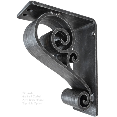 Classic Scroll Iron Corbel 3-Inch Wide