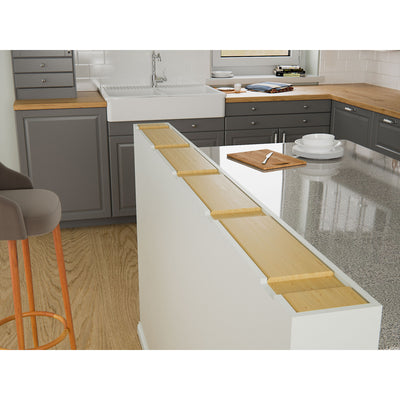 Hidden Granite Countertop Flat Bracket For Pony or Knee Wall, Placement Installation Image