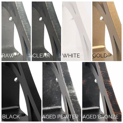 IMAGE OF METAL CORBEL FINISH OPTIONS FROM IRONSUPPORTS.COM