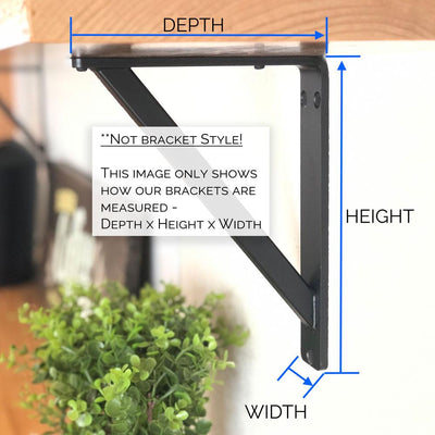 METAL SHELF BRACKET DIMENTION NOTES AND ANNOTATIONS