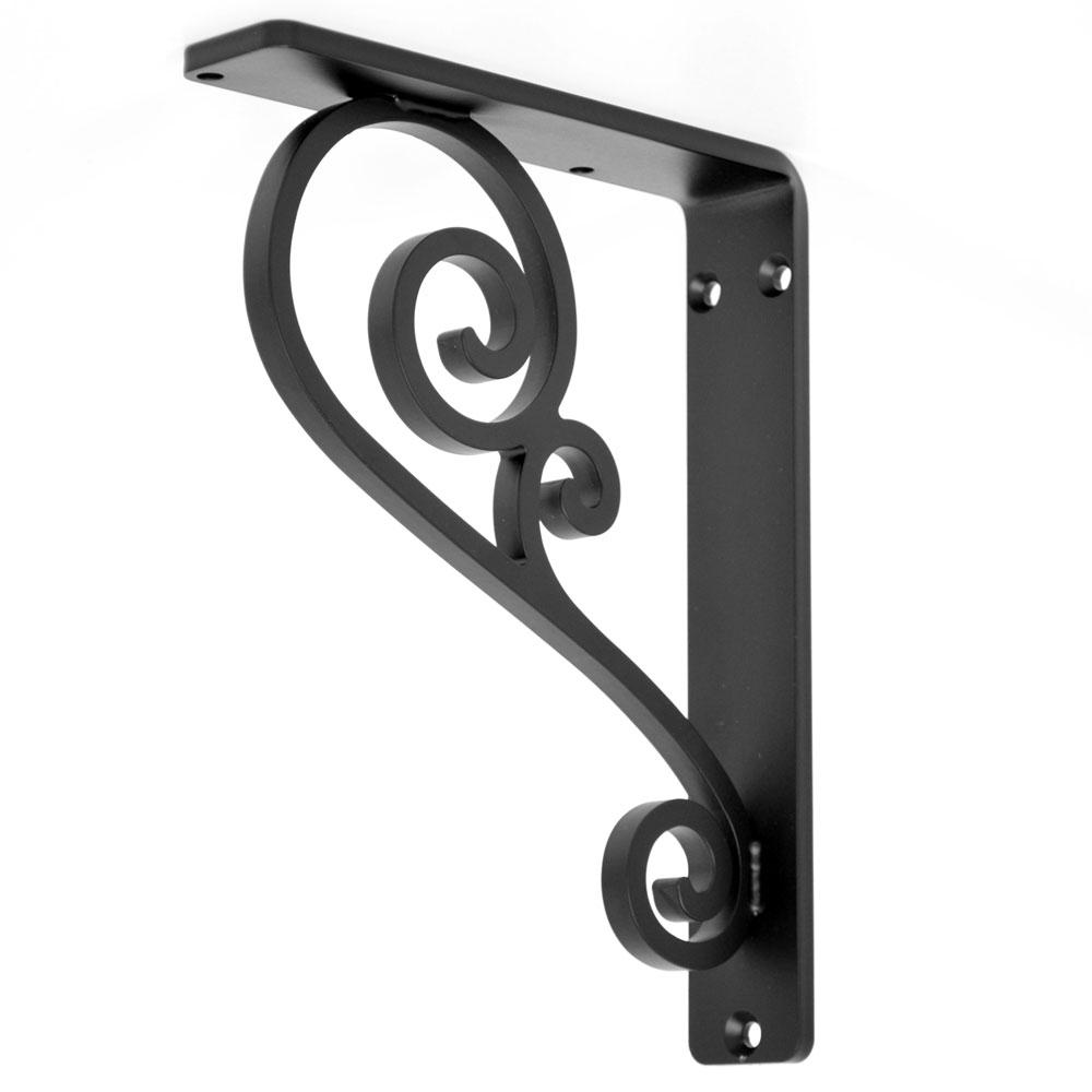 Classic Scroll Iron Countertop Corbel (single center brace)