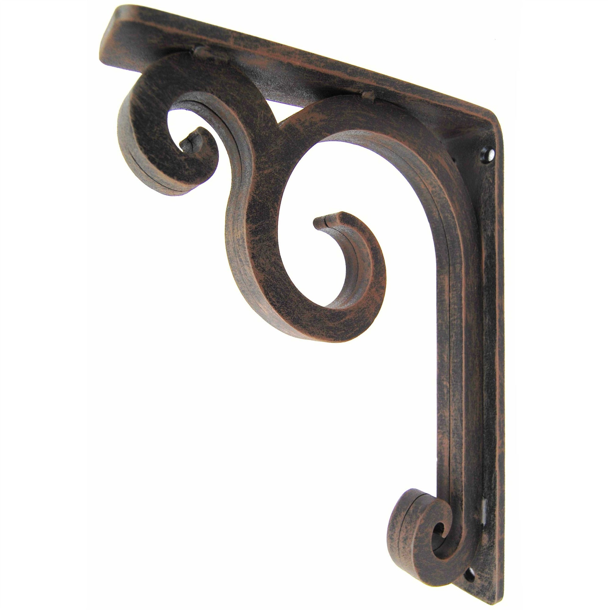 THis is our 1.5inch wide Keaton Iron Corbel with the Old World Finish.