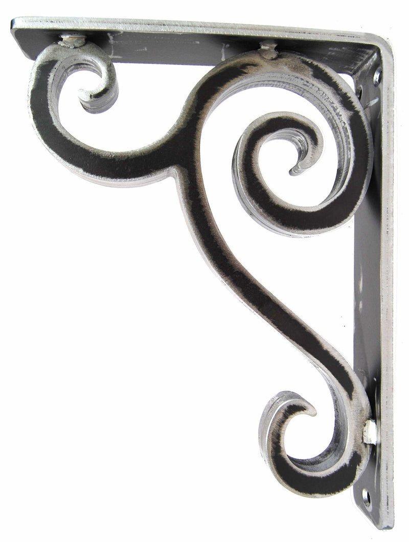 This is our 1.5-inch wide Linley Iron Corbel with a clear finish over raw steel