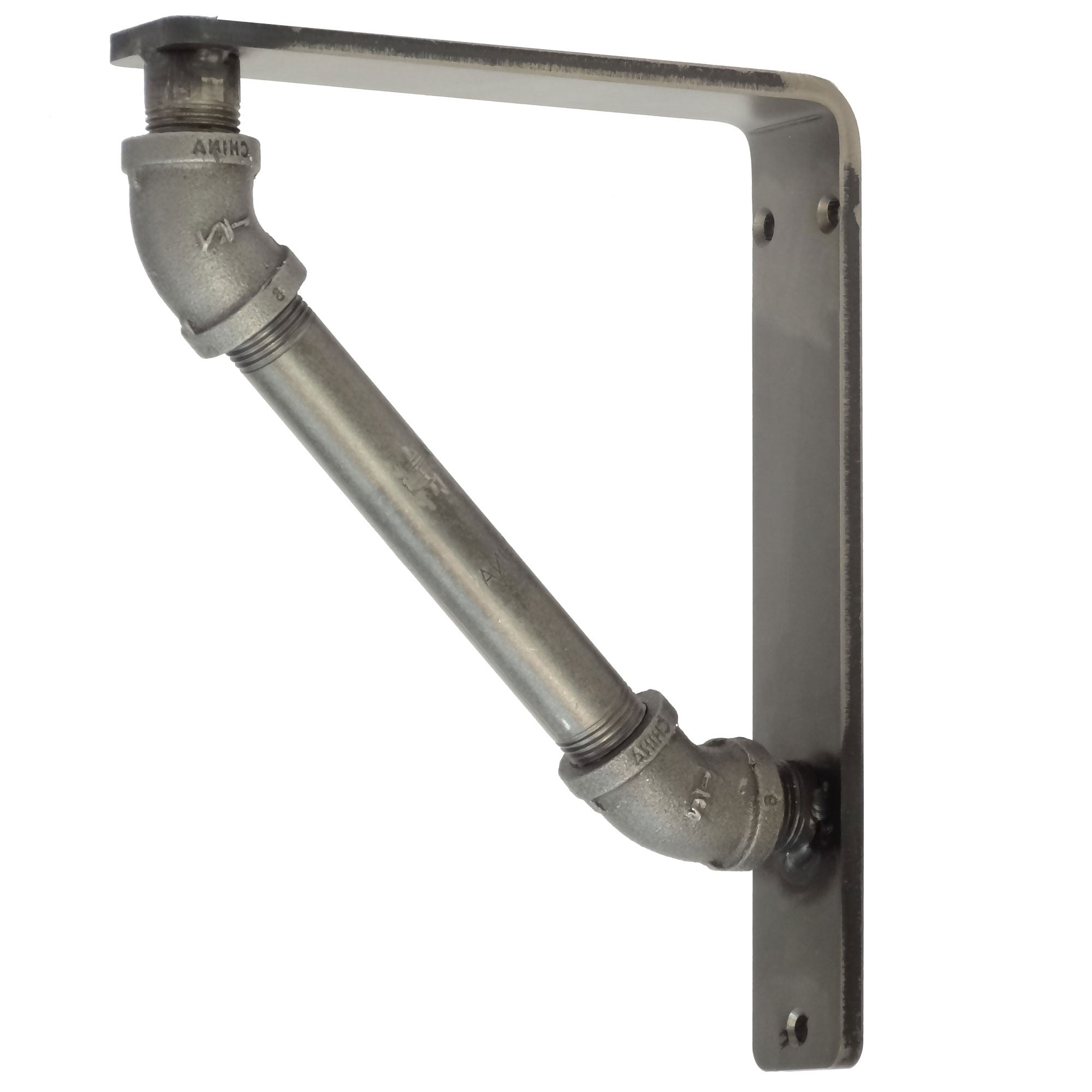 Pictured here is our 1.5inch wide Industrial Iron Shelf Bracket. This is the same bracket as our 1.5 Industrial Iron Corbel.