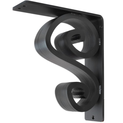 This is our 3-inch wide Arts N Crafts Iron Corbel with Black Iron Finish