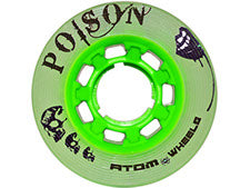 Atom Poison slim quad wheels available @ Atom Skates