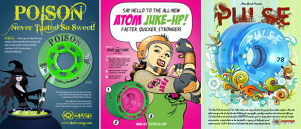 Atom Wheels - Poison, Juke & Pulse ads