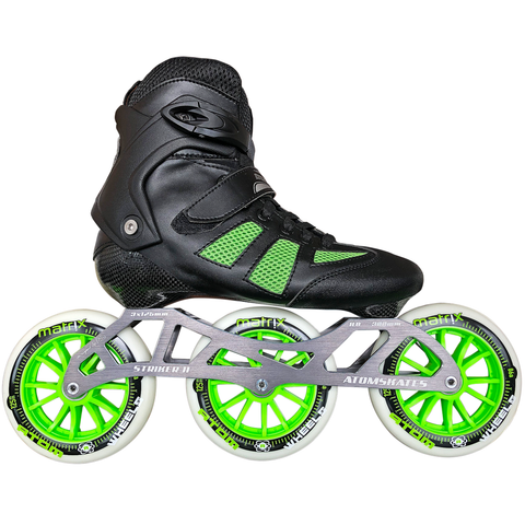 Atom Pro Fitness 3x125 Outdoor Inline Skate Package with Atom Matrix 125 Wheels