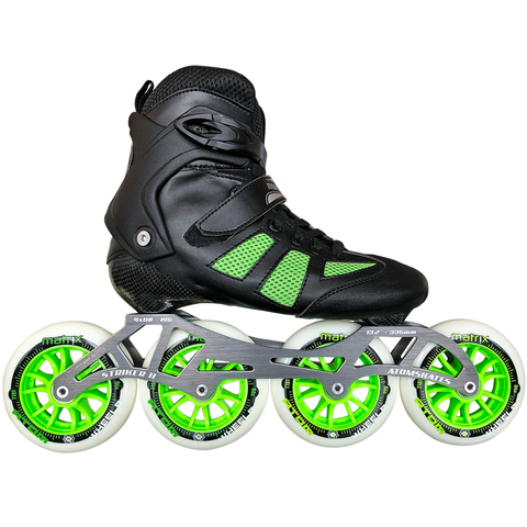 Atom Pro Fitness 4x110 Outdoor Inline Skate Package with Matrix 110 Wheels