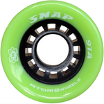 Atom Snap 91a quad roller skate wheels in Green