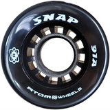 Atom Snap 91a quad roller skate wheels in Black