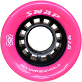 Atom Snap 91a quad roller skate wheels in Pink