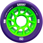 Atom Savant 93A 62x40 Quad Roller Skate wheels in purple with bright green core
