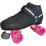Jackson Supreme Falcon Derby Quad Roller Skate Package with Atom Poison Savant Wheels
