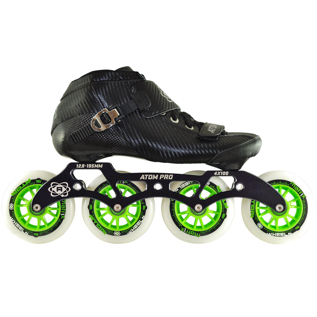 Atom Pro 4 Wheel Inline Skate Package
