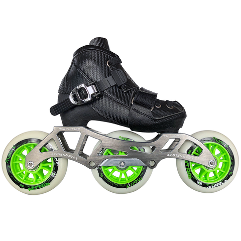 Atom Pro Kid's Adjustable Inline Skate Package with Atom Matrix wheels