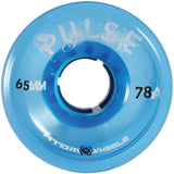 Blue Atom Pulse outdoor quad skate wheel