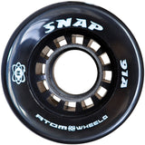 Black Atom Snap Quad Wheel