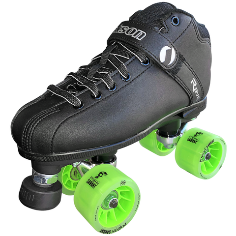 Jackson Rave Derby Quad Skate with Atom Poison Savant Wheels