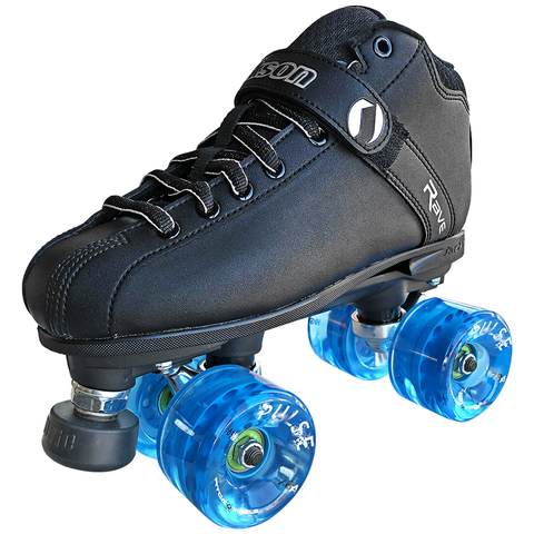 jackson rave outdoor roller skate package with atom pulse wheels
