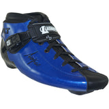 Blue Metallic Gloss custom color Luigino Bolt inline skate boot