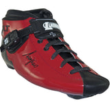 Red Gloss custom color Luigino Bolt inline skate boot