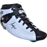 White Matte custom color Luigino Bolt inline skate boot