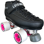 Luigino Q4 Viper Alloy Derby Quad Roller Skate Package with Atom Boom 59x38 Wheels