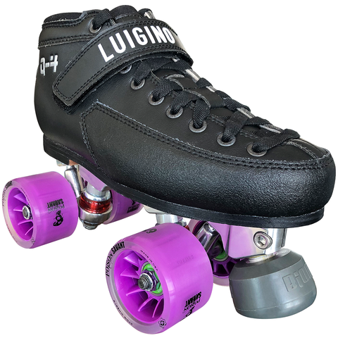 Luigino Q4 Viper Alloy Derby Quad Roller Skate Package with Poison Savant wheels