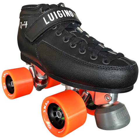 Luigino Q4 Viper Alloy Indoor Rink Quad Skate package with Atom Snap wheels