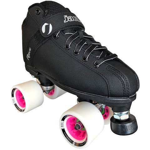 jackson rave derby quad roller skate package with atom boom 62x44 wheels