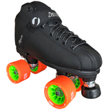jackson rave indoor rink quad roller skate package with atom savant 62x40 wheels
