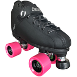 jackson rave indoor rink quad roller skate package with atom snap wheels