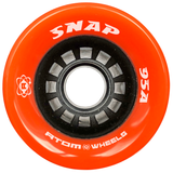 Atom Snap 95a quad roller skate wheels in Orange