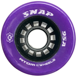 Atom Snap 95a quad roller skate wheels in Purple