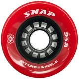 Atom Snap 95a quad roller skate wheels in Red
