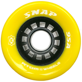 Atom Snap 95a quad roller skate wheels in Yellow
