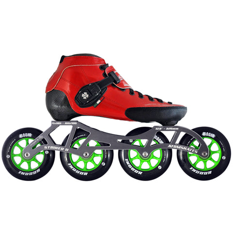 Red Luigino Strut Indoor inline skate package available @ Atom Skates