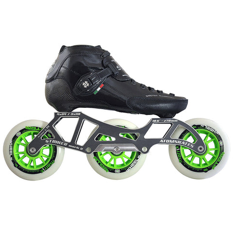 Luigino Strut 3 Wheel inline skate package