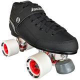 Jackson Supreme Falcon Indoor Rink Quad roller skate package with Atom Boom 62x44 wheels