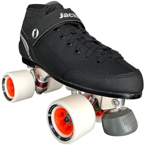 Jackson Supreme Viper Indoor Rink Quad roller skate package with Atom Boom wide wheels