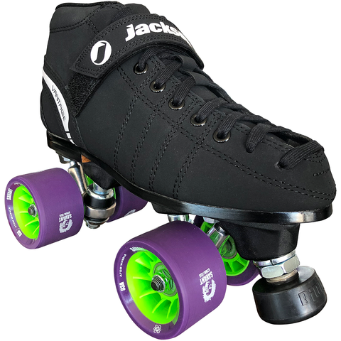 Jackson VIP Indoor Rink Quad Roller skate package with Atom Savant 62x40 wheels